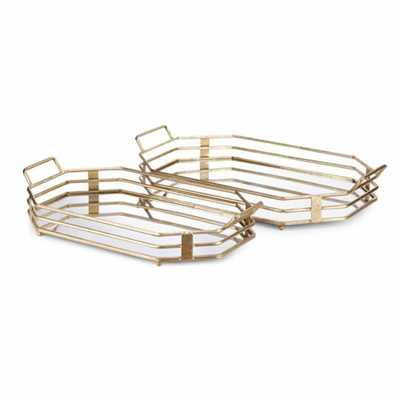 IMAX Piculla Gold Trays (Set of 2) - Home Depot