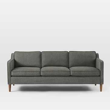 "Hamilton Upholstered 81"" Sofa, Twill, Granite - West Elm"
