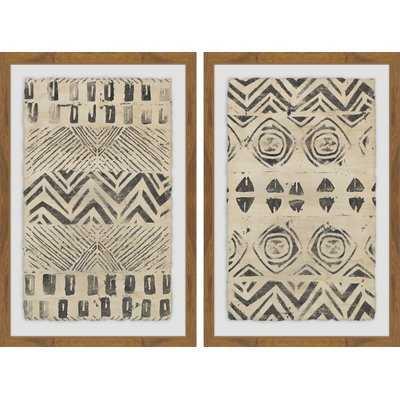 'Golden Patterns Diptych' - Wayfair