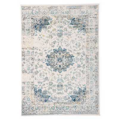 """World Rug Gallery Traditional Persian Area Rug 7'10"""" x 10' Blue - Home Depot"""