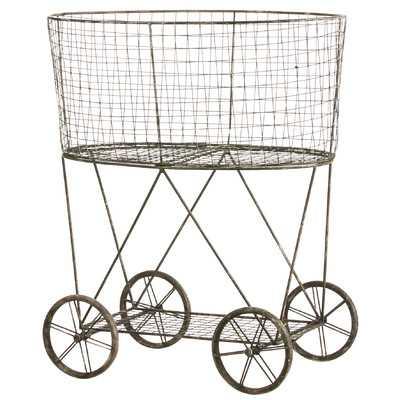 Metal Wire Basket on Wheels - Wayfair