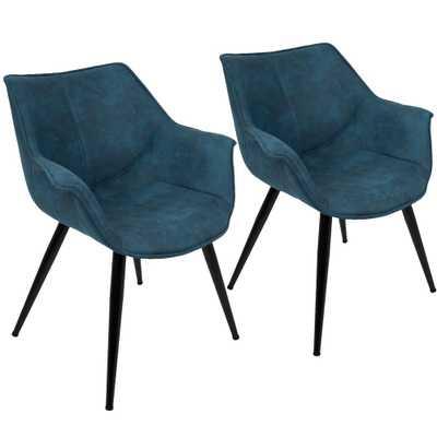 Wrangler Blue Accent Chair (Set of 2), Blue - Home Depot