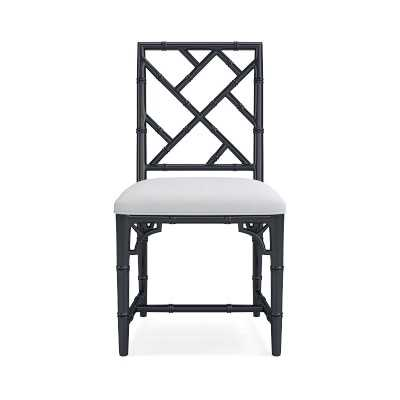 Chippendale Bistro Side Chair, Navy - Williams Sonoma