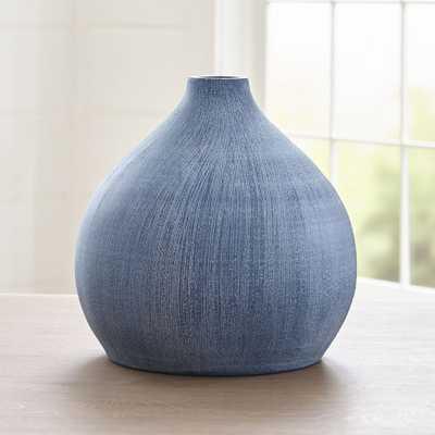 Annisa Blue Wide Teardrop Vase - Crate and Barrel