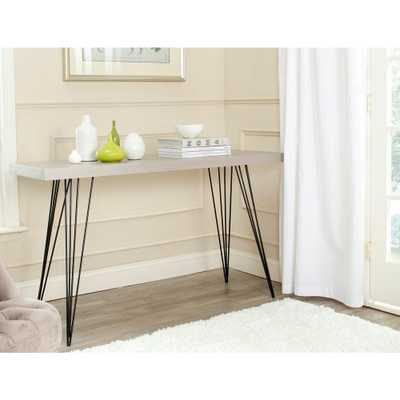 Wolcott Gray and Black Console Table - Home Depot