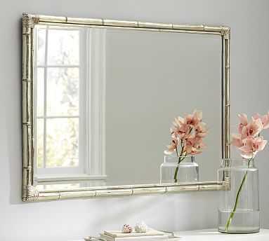 Bamboo Silver Gilt Wall Mirror - Pottery Barn
