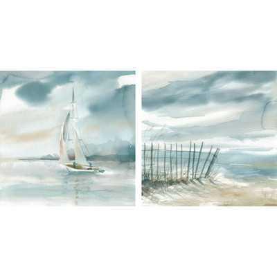 Subtle Mist I & II by Carol Robinson 2 Piece Painting Print on Canvas Set - Wayfair