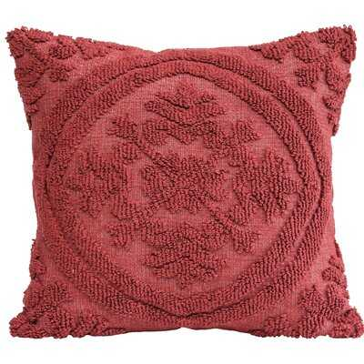 Kitterman Square Woven Looped Cotton Throw Pillow - AllModern