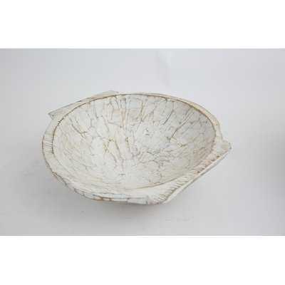 Round Wooden Dough Decorative Bowl - Birch Lane