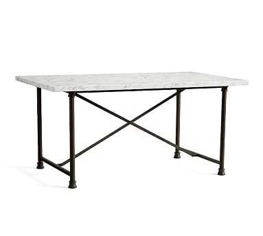 Avon Dining Table, Marble/Bronze - Pottery Barn