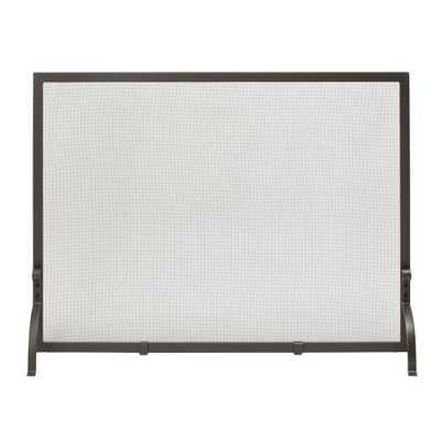 Olde World Iron Medium Single-Panel Fireplace Screen - Home Depot