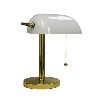ORE International 12.5 in. Gold Bankers Lamp - Home Depot
