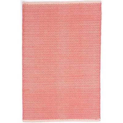 Herringbone Hand Woven Pink Area Rug - AllModern