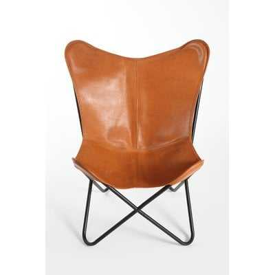 Cochrane Butterfly Saddle Natural Leather Lounge Chair - Wayfair