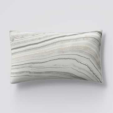 Organic Sateen Marble King Sham, Frost Gray - West Elm
