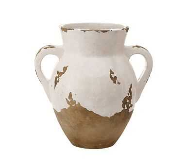 Tuscan Terra Cotta Vase, Medium Double-Handled Urn - Pottery Barn