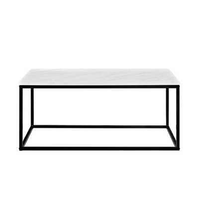 Jordan Marble Finish 42 in. Coffee Table, Faux Marble - Home Depot