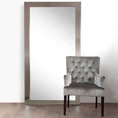 Designer Silver Floor Mirror - Wayfair