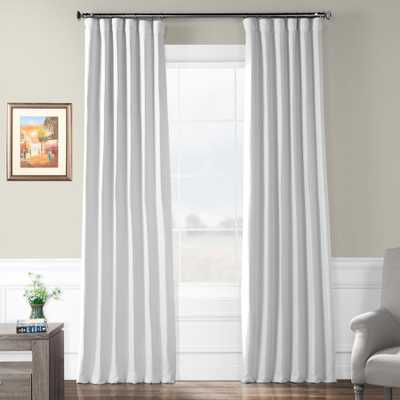 Exclusive Fabrics & Furnishings Swiss Coffee White Bellino Blackout Curtain - 50 in. W x 96 in. L - Home Depot