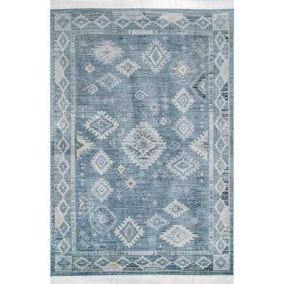 nuLOOM Maida Vintage Tribal Blue 8 x 10 Area Rug - Home Depot