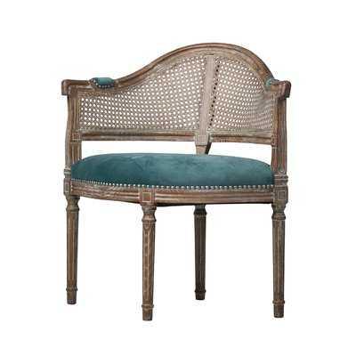 East Drive Antique Cane Barrel Chair - Wayfair