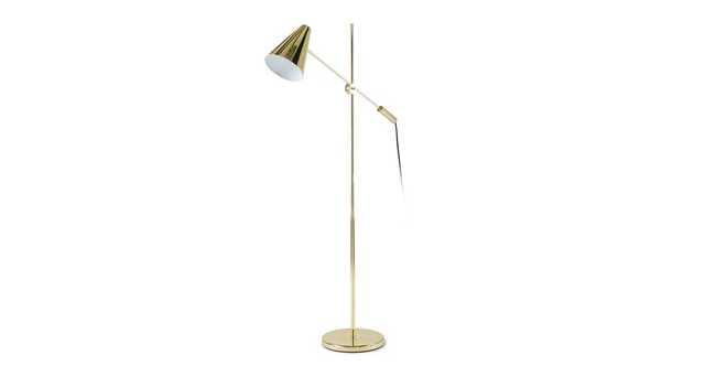 Beam Single Brass Floor Lamp - Article