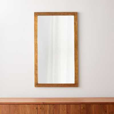 Element Brass Wall Mirror - Crate and Barrel