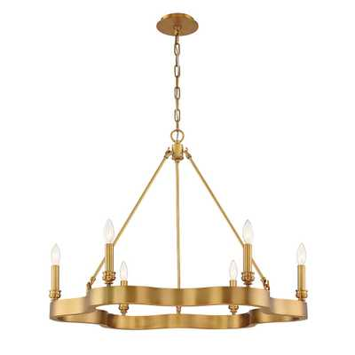 Eurofase Leyton 6-Light Antique Brass Chandelier - Home Depot
