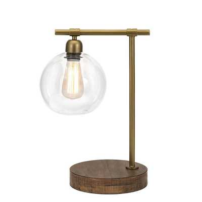 Ludlow 18 in. Brass Table Lamp - Home Depot