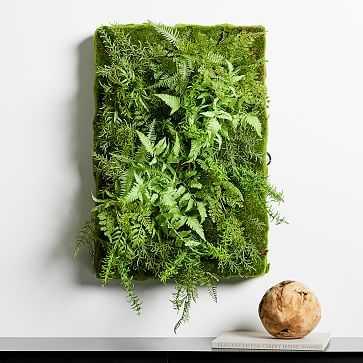 Faux Botanicals, Wall Fern Mix - West Elm