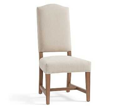 Ashton Non Tufted Dining Chair, EverydaySuede, Oat - Pottery Barn