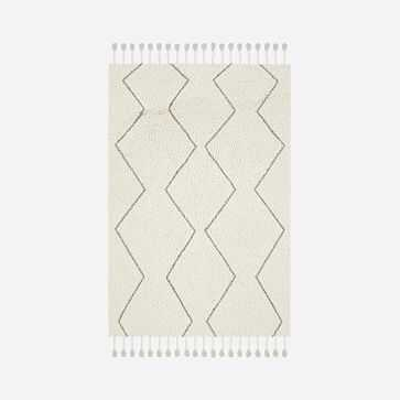 Souk Wool Rug, Natural, 6'x9' - West Elm