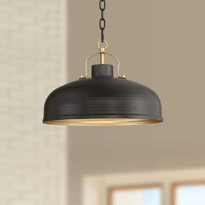 """Possini Euro Camden 15 3/4""""W Black and Warm Brass Pendant - Style # 54A29 - Lamps Plus"""