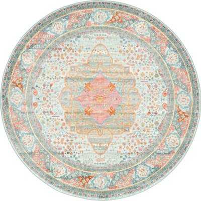Lonerock European Orange/Pink Area Rug - Birch Lane