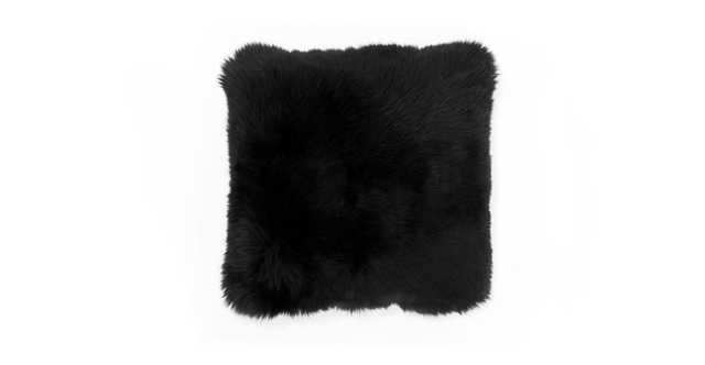 Lanna Black Sheepskin Pillow - Article