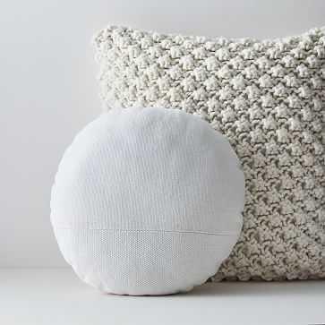 Bobble Knit Cotton Canvas Pillow Cover Set - West Elm