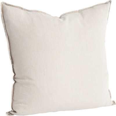 Roslyn Linen Throw Pillow- natural - Wayfair