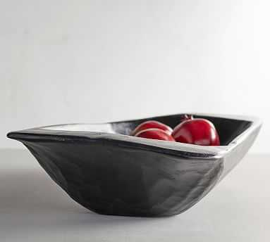 Wooden Dough Bowl Trays, Black, Large - Pottery Barn