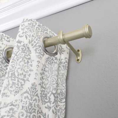 End Cap Single Curtain Rod & Hardware Set - Birch Lane