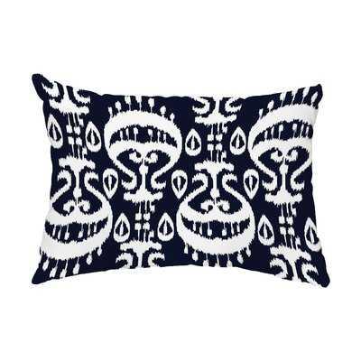 Telfair Ikat Indoor/Outdoor Lumbar Pillow - Wayfair