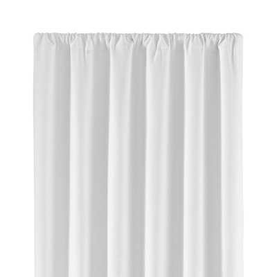 "Wallace White Blackout Curtain Panel 52""x96"" - Crate and Barrel"