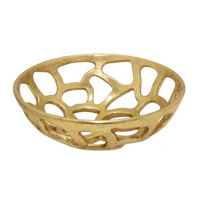 Gold Pierced Bowl - Home Depot