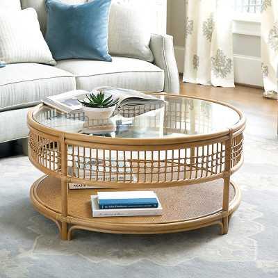 Ballard Designs Beverly Rattan Coffee Table - Ballard Designs