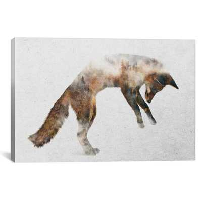 Jumping Fox by Andreas Lie Canvas Wall Art, Multi - Home Depot