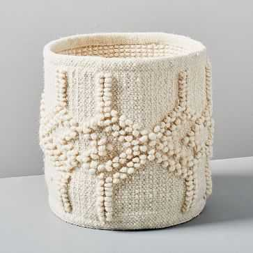 Sweater Knit Basket, Ivory - West Elm