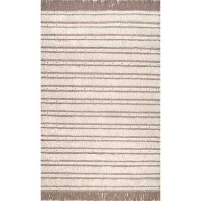 Batista Tassel Ivory 7 ft. 6 in. x 9 ft. 6 in. Area Rug - Home Depot