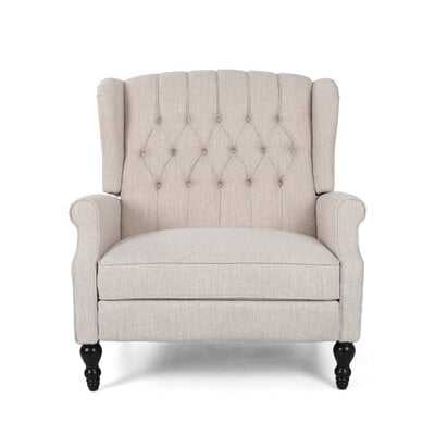Mattice Tufted Fabric Manual Recliner - Wayfair
