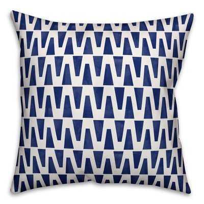 Zacarias Watercolor Diamond Outdoor Throw Pillow - Wayfair