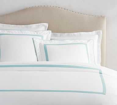 Morgan Organic Duvet Cover, King/Cal. King, Sea Glass - Pottery Barn