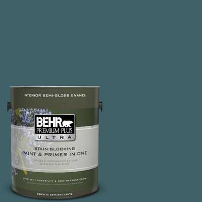 BEHR Premium Plus Ultra 1 gal. #T17-12 Wanderlust Semi-Gloss Enamel Interior Paint, Greens - Home Depot